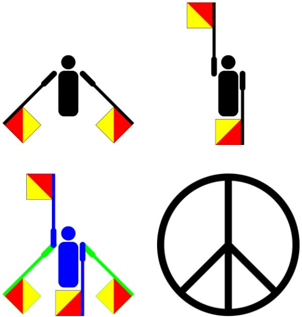 Anti War Semaphore Hidden Meaning Encoded In A Universal Symbol Of