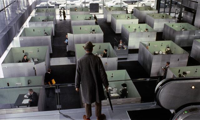 <p>From Jacques Tati's <em>Playtime</em> (1967). <em>Image courtesy Les Films de Mon Oncle – Specta Films CEPEC</em></p>